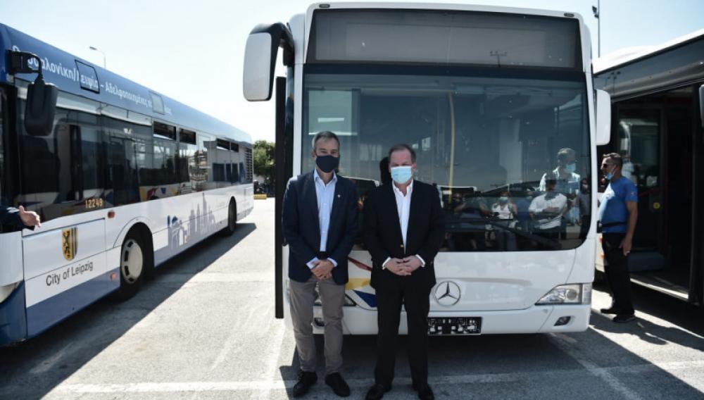 Νέα λεωφορεία στους δρόμους της Θεσσαλονίκης